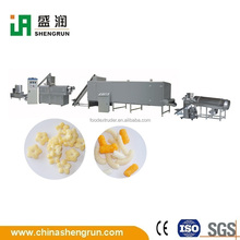 full automatic cereals basing puffed snack processing line machine