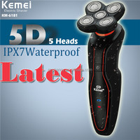 KEMEI KM-6181 Ergonomic Body Design Rechargeable Comprehensive 5D Floating Electric Washable Shaver Home Health Care
