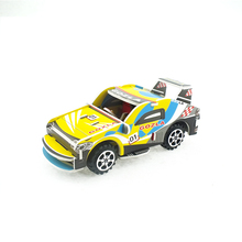 China factory mini pull back toy car paper puzzle for child
