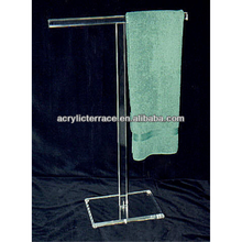 T-shaped Acrylic towel display stand for hoetel usage