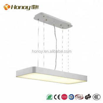 Square modern led pendant lamp for living room