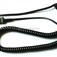 Coiled Phone Cord With Spiral Cable