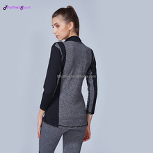 Custom made compression quick dry breathable gym wear Guangzhou luxury yoga fitness clothes jackets