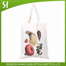 Reusable eco vegetable grocery bag/custom plain blank canvas tote bag whole