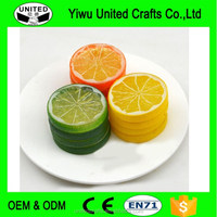 New 1 Pc Artificial Plastic Lemon Slices Lifelike Decorative Fake Fruit 3 Colors