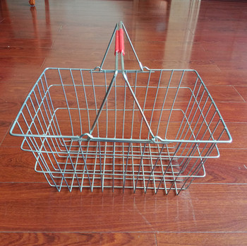 Hot sell zinc plated Shopping Basket for everyday use