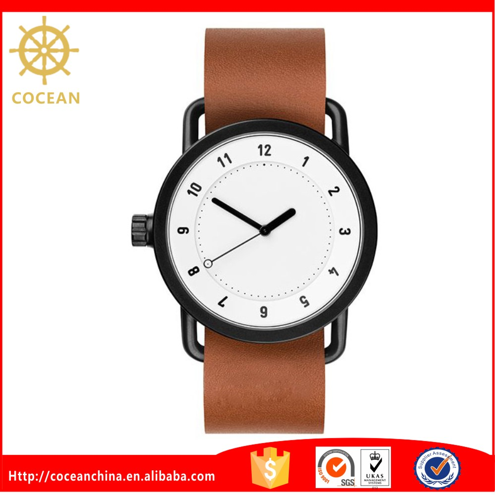 Chinese Supplier New Brown Leather Band Woman Fancy Watches