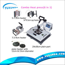 New 6 In 1 38*38 Cm Combo Heat Press Machine For Mug,Plate,Hat,Cloths.etc