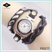 PS0177 3 Wraps Women Newest Suede Braided Bracelets all type of wrist watch