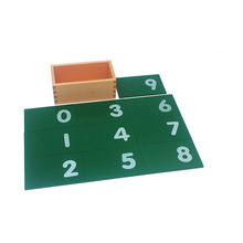 China supplier kids educational montessori equipment wooden math train toy sandpaper numbers