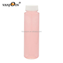 16 OZ Cylindrical Cold Pressed Clear Plastic Juice Bottles