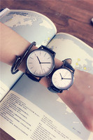 Korean casual fashion trendy watch male simple couple watches female students retro belt quartz watch