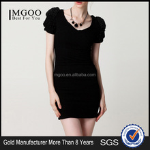 MGOO Top China Women Clothing Supplier Made Bodycon Evening Dress White V-neck Dress Korea Sweet Prom Dress #K072256