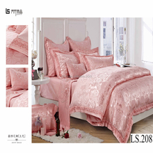 Luxury king size comforter set on sale wedding embroidery duvet cover set chinese manufacturers cheap silk jacquard bedding set