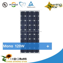 Best PV supplier mono 120 watt solar panel 130w 140w 150w 160w small mono solar module