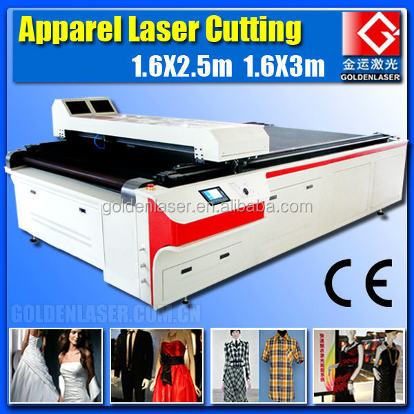 AutoCAD /Clothing/Apparel/Garment Laser Cutting Machine with AutoFeeder
