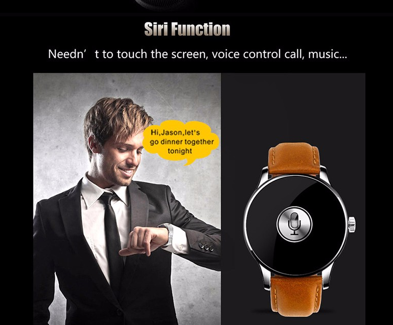 IPS Round touch Screen Bluetooth smart watch k88h heart rate monitor 1.2inch mens smart watch
