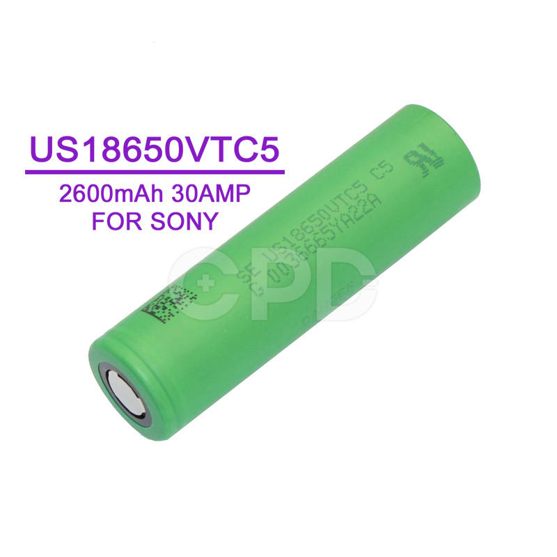 for Sony US18650VTC5 2600mAh 3.7V 30A Discharge VTC5 Rechargeable Li-ion Battery