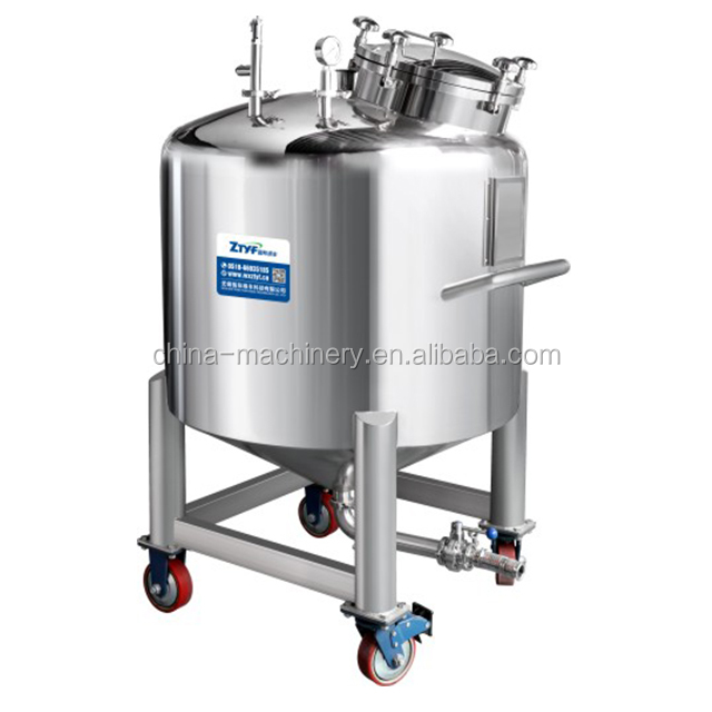 Food Cosmetic Chemical Pharmaceutical Stainless Steel Storage Tank