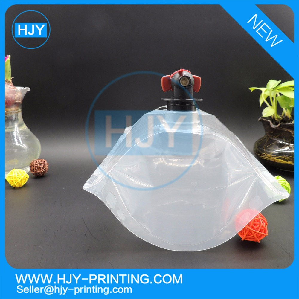 well- qualified Liquid Package 5L Customized Plastic Juice Drink Spout Bag