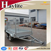 high quality cargo box trailer with mesh cage