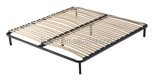 strong and nice looking platform folding metal slatted bed frame DJ-PS01