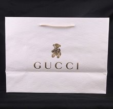 customized branded paper bag white Paper Gift Bags with handle