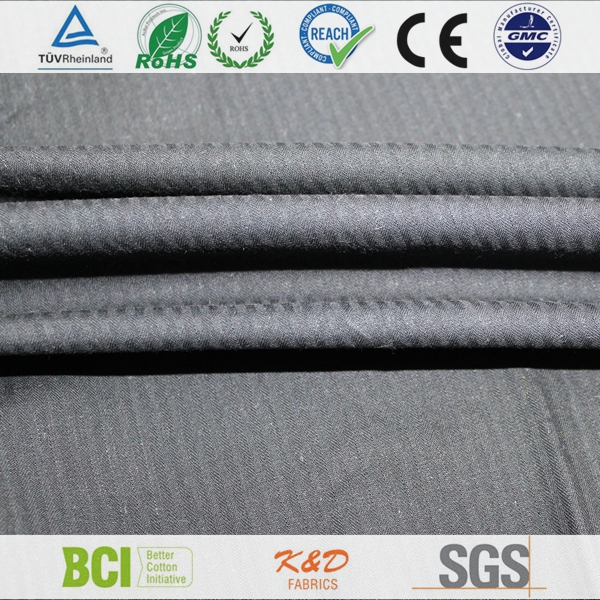 cotton yarn dyed woven black twill herringbone solid chambray fabrics for shirts