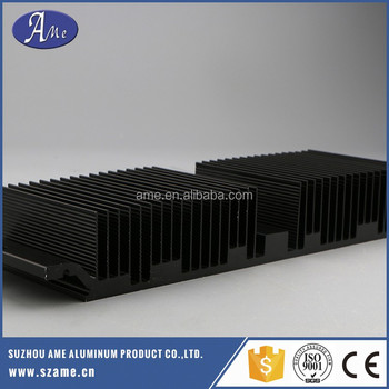 extrusion aluminum black heat sink cooler