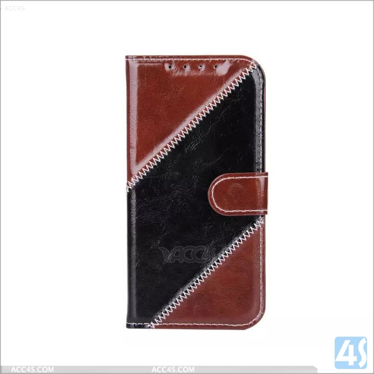 Bicolor luxury wallet leather case for HTC ONE M8 back cover for htc