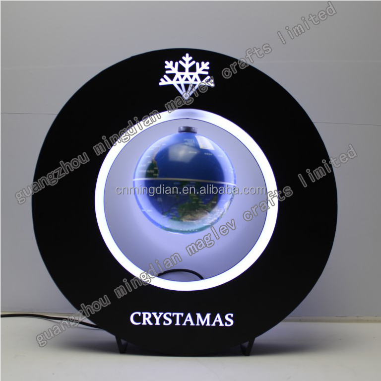 led acrylic round magnetic levitating display bottle or globes display stand
