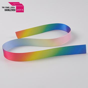 Customized bright coloured textile printing silk ribbon printed acrylic cotton webbing