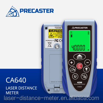 Taiwan products laser measuring tools 40M with area,volume,height, lcd screen backlight CA640 civil engineering