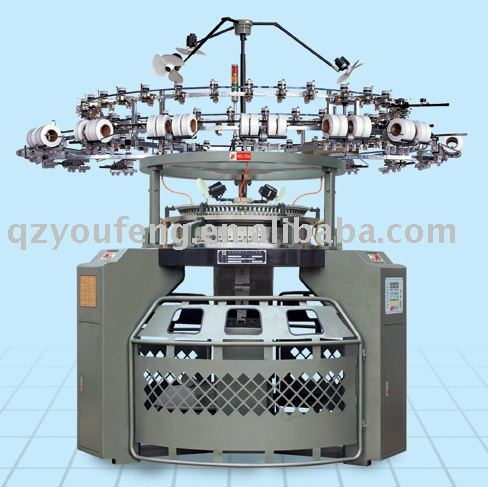 Plain Fabric Single Jersey 4 Tracks Circular Knitting Machine