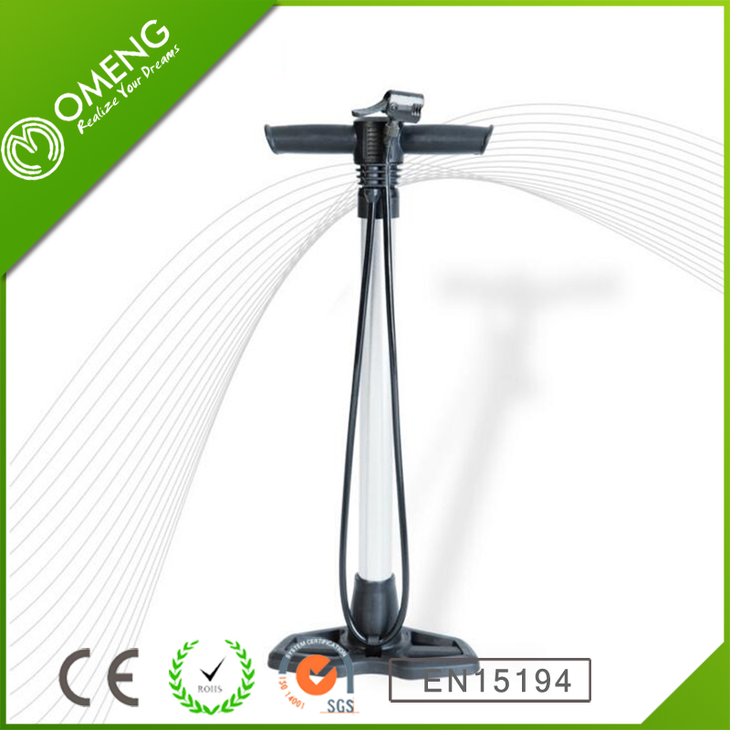 High Pressure Bike Foot Pump Bicycle Hand Air Pump With Gauge