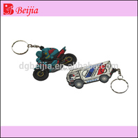 Newest custom 2 wheels car accessory silicone soft pvc keychain for video games cool boy