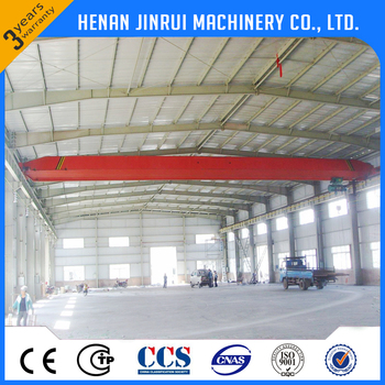 Industrial Construction 5 ton 10 ton Single Girder Overhead EOT Crane with Remote Control