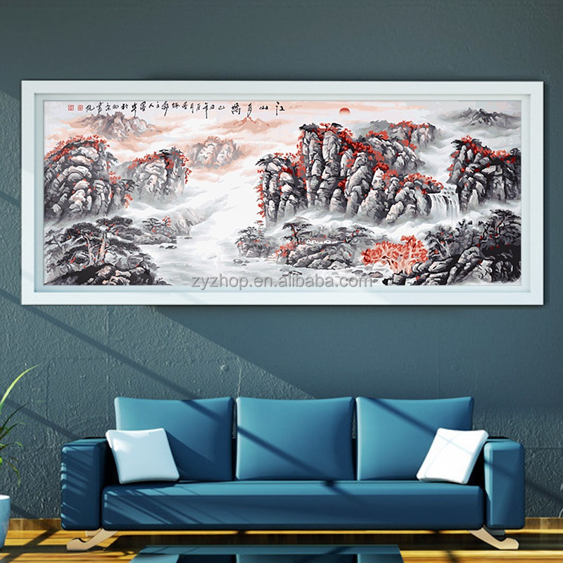 Home decor landscape canvas painting traditional painting