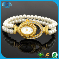 Fashion Jewellery Pearl Sapphire Crystal Glass Watch