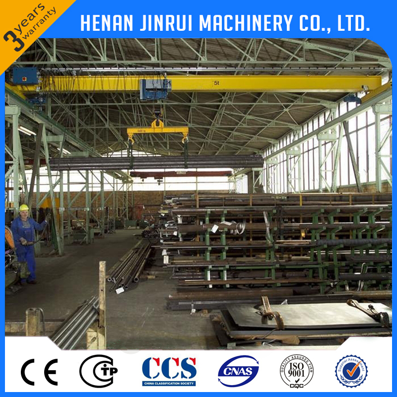 Heavy Load Cement Plant 5 ton European Single Girder Overhead Crane Machine