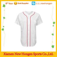 top quality classic look women baseball jersey/wholesale plain white mesh baseball jerseys