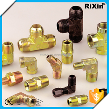 RX - 1302 new arrive hydraulic tee fittings hydraulic pump fitting rubber hydraulic pipe