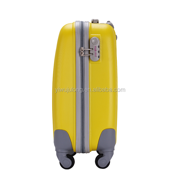 Inch 18 22 26 Functional Lightweight Yellow Color Trolley ABS Luggage