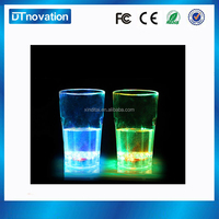 Glow in the dark glass flashing cup drinking glass manufacturers china