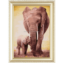 5D DIY Diamond Painting Elephant Scenic Crystal Diamond Painting Cross Stitch Home Decorative y94