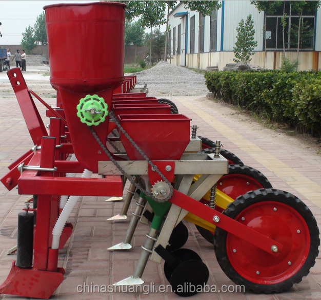 4 rows maize planter with fertilizer tractor mounted maize planter seeder