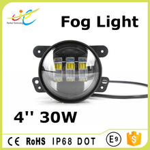 2017 30w 4inch fog light, led fog lamp for jeep wrangler, 4inch jeep led fog lights
