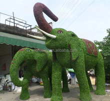 China wholesale artificial topiary elephant animals artificial animal for decoration