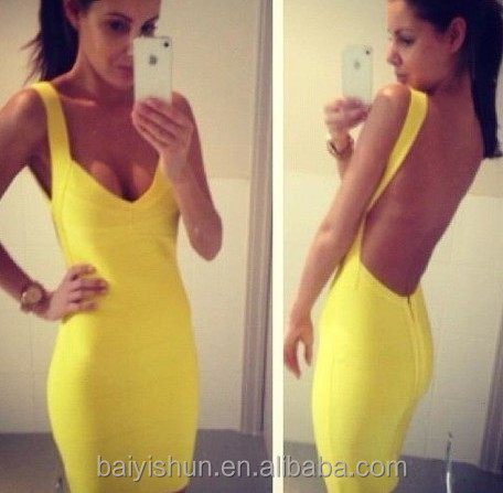 2015 in-alles Brand new bodycon dress katy perry bandage dress gradient open back bandage dress
