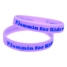 Purple Color Personalized Silicone Bracelet for Give Away Gift